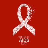 World AIDS Day poster Stock Images