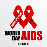 World Aids Day, Poster and Quotes, Inspirational Message Stock Image