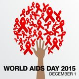 World Aids Day, Poster and Quotes, Inspirational Message Royalty Free Stock Photography