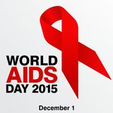 World Aids Day, Poster and Quotes, Inspirational Message Royalty Free Stock Photos