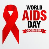 World Aids Day, Poster and Quotes, Inspirational Message Royalty Free Stock Images