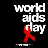 World Aids Day, Poster and Quotes, Inspirational Message Stock Photo
