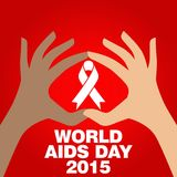 World Aids Day, Poster and Quotes, Inspirational Message Stock Photography