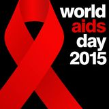 World Aids Day, Poster and Quotes, Inspirational Message Royalty Free Stock Photo