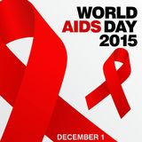 World Aids Day, Poster and Quotes, Inspirational Message Royalty Free Stock Image