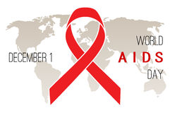 World AIDS Day poster Royalty Free Stock Photography