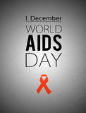 World AIDS day. 1st December Royalty Free Stock Image