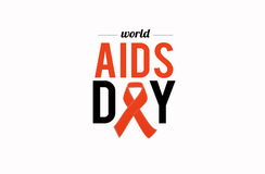 World AIDS day. 1st December Royalty Free Stock Images
