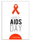 World AIDS day. 1st December Stock Images