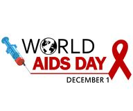 World AIDS Day. 1st December World Aids Day poster Royalty Free Stock Photography