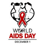 World AIDS Day. 1st December World Aids Day poster vector illustration