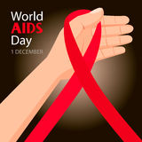 World AIDS Day. 1st December. World Aids Day poster Royalty Free Stock Photography