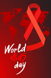 World AIDS Day 1st December. World AIDS Day. 1st December World Aids Day poster with with calligraphic text AIDS Day . Vector AIDS Day illustration Stock Image