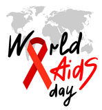 World AIDS Day 1st December. World AIDS Day. 1st December World Aids Day poster with with calligraphic text AIDS Day . Vector AIDS Day illustration Stock Photos