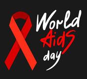 World AIDS Day 1st December. World AIDS Day. 1st December World Aids Day poster with with calligraphic text AIDS Day . Vector AIDS Day illustration Royalty Free Stock Photo