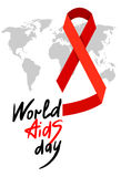 World AIDS Day 1st December. World AIDS Day. 1st December World Aids Day poster with with calligraphic text AIDS Day . Vector AIDS Day illustration Stock Photo