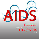 World AIDS Day. 1st December World Aids Day poster. Vector illustration Royalty Free Stock Photos