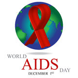 World AIDS Day. 1st December World Aids Day poster. Vector illustration Royalty Free Stock Images