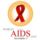 World AIDS Day. 1st December World Aids Day poster. Vector illustration vector illustration