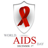 World AIDS Day. 1st December World Aids Day poster. Vector illustration Stock Photography