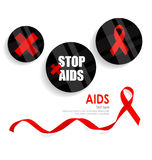 World AIDS Day. 1st December World Aids Day poster. Vector illus. Tration Stock Images