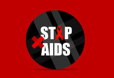 World AIDS Day. 1st December World Aids Day poster. Vector illus. Tration royalty free illustration