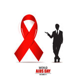 World AIDS Day. 1st December World Aids Day poster. Vector illus. Tration Royalty Free Stock Images