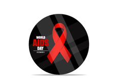 World AIDS Day. 1st December World Aids Day poster. Vector illus. Tration stock illustration