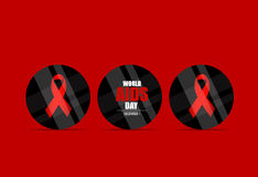 World AIDS Day. 1st December World Aids Day poster. Vector illus. Tration Royalty Free Stock Photo