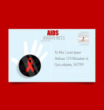 World AIDS Day. 1st December World Aids Day poster. Vector illus. Tration Stock Photography
