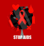 World AIDS Day. 1st December World Aids Day poster. Vector illus. Tration Stock Photo