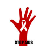 World AIDS Day. 1st December World Aids Day poster. Vector illus Royalty Free Stock Photography