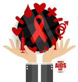 World AIDS Day. 1st December World Aids Day poster. Vector illus. Tration Royalty Free Stock Photos