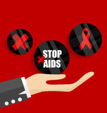 World AIDS Day. 1st December World Aids Day poster. Vector illus. Tration Royalty Free Stock Image