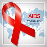 World AIDS Day. 1st December World Aids Day poster. Vector illus Royalty Free Stock Image