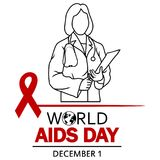 World AIDS Day. 1st December World Aids Day poster Royalty Free Stock Image
