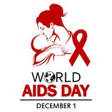 World AIDS Day. 1st December World Aids Day poster Royalty Free Stock Photo