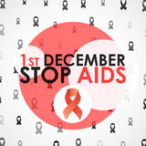 World Aids Day. Stop Aids. 1th december. Brochure against AIDS Stock Photos
