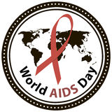 World AIDS Day. Symbol of World AIDS Day, December 1. Vector illustration Royalty Free Stock Image