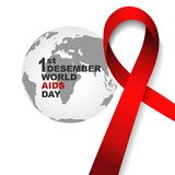 World aids day symbol.1st December World Aids Day. Aids Awareness.Red ribbon. ,banner or poster of world aids day. World aids day symbol.1st December World Aids stock illustration