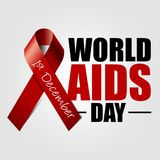 World Aids Day. Vector Eps10 illustration. World Aids Day. 1st December. Vector Eps10 illustration design Stock Photography