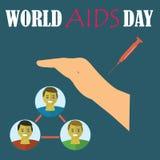 World AIDS Day. Vector illustration. World AIDS Day. Vector illustration Royalty Free Stock Image