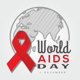 World AIDS Day. Vector illustration. royalty free illustration