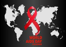 The World Aids Day. Vector illustration. The World Aids Day. Vector Royalty Free Stock Image