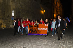 World Aids Day vigil 2014. World Aids Day 2014 vigil in Valletta, Malta Stock Images