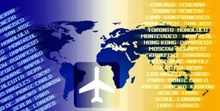World air travel Stock Image