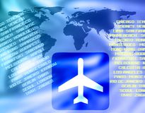 World air travel Royalty Free Stock Images