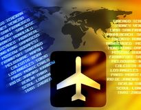 World air travel Royalty Free Stock Photography