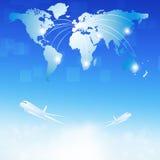 World Air Travel destinations Royalty Free Stock Photo