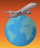 World airplane Royalty Free Stock Photo